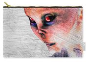 Female Alien Portrait Carry-all Pouch