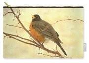 Female American Robin Carry-all Pouch