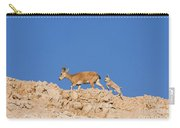 female and young Nubian Ibex Carry-all Pouch
