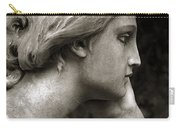 Female Angel Face Closeup - Female Angelic Face Portrait Carry-all Pouch
