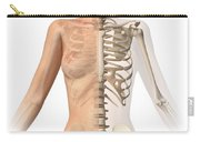 Female Body With Bone Skeleton Carry-all Pouch