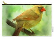 Female Cardinal In Elm Tree - Digital Paint Carry-all Pouch