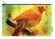 Female Cardinal In Elm Tree Digital Effect Carry-all Pouch