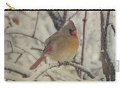 Female Cardinal In The Snow II Carry-all Pouch