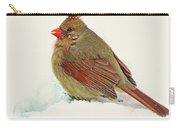 Female Cardinal In Winter II Carry-all Pouch