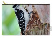 Female Downy Woodpecker Carry-all Pouch