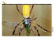 Female Golden Silk Spider Eating Carry-all Pouch