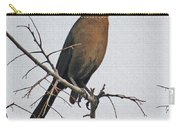 Female Grackle On Net Leaf Hackberry Tree Carry-all Pouch