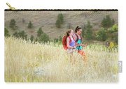 Female Hikers Walk On A Trail Carry-all Pouch