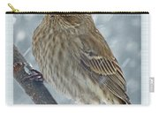 Female House Finch In Snow Carry-all Pouch