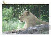 Female Lion On Guard Carry-all Pouch