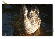 Female Mallard In Pond Carry-all Pouch