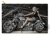 Female Model With A Motorcycle Carry-all Pouch