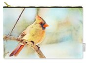 Female Northern Cardinal - Digital Paint I Carry-all Pouch
