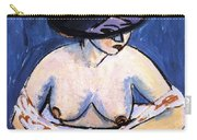 Female Nude With Hat Carry-all Pouch