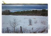 Fence And Snowy Field Carry-all Pouch