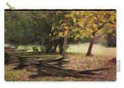 Fence And Tree In Autumn Carry-all Pouch