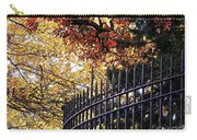 Fence At Woodlawn Cemetery Carry-all Pouch
