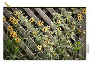 Fence Lined Wildflowers Carry-all Pouch