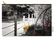 Fence Near The Garden Carry-all Pouch by Julie Hamilton