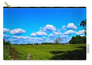 Fence Row And Clouds Carry-all Pouch