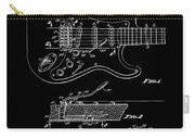 Fender Guitar Tremolo Patent Art 1956 Carry-all Pouch