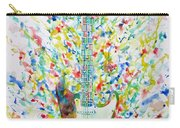 Fender Stratocaster - Watercolor Portrait Carry-all Pouch
