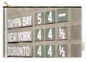 Fenway Park Al East Scoreboard Standings Carry-all Pouch