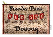 Fenway Park Boston Redsox Sign Carry-all Pouch by Bill Cannon