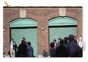 Fenway Park - Fans And Locked Gate Carry-all Pouch by Frank Romeo