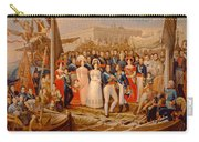 Ferdinand Vii Disembarking In The Port Of Santa Maria, 19th Century Oil On Canvas Carry-all Pouch