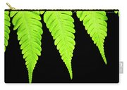 Fern Isolated On Black Background Carry-all Pouch