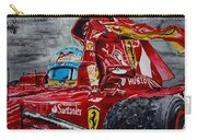 Fernando Alonso And Ferrari F10 Carry-all Pouch