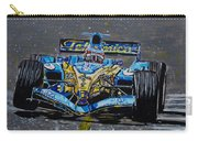Fernando Alonso In Blue Carry-all Pouch