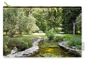 Fernwood Botanical Garden Frog Pond With Bench Niles Michigan Us Carry-all Pouch