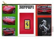 Ferrari Collage On Italian Flag Carry-all Pouch