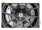 Ferrari Wheel Emblem - Brake Emblem -0430bw Carry-all Pouch