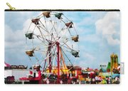 Ferris Wheel Against Blue Sky Carry-all Pouch