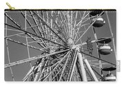 Ferris Wheel In Black And White Carry-all Pouch