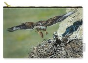 Ferruginous Hawk Bringing Food To Young Carry-all Pouch