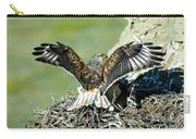 Ferruginous Hawk Male At Nest Carry-all Pouch