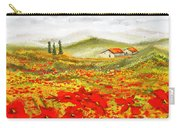 Field Of Dreams - Poppy Field Paintings Carry-all Pouch