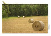 Field Of Freshly Baled Round Hay Bales Carry-all Pouch