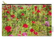Field Of Poppies Digital Art Prints Carry-all Pouch
