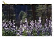 Field Of Summer Wildflowers Backlit Lupine  Carry-all Pouch