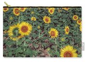 Field Of Sunflowers Carry-all Pouch by Adrian Evans