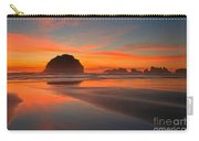 Fiery Bandon Beach Carry-all Pouch by Adam Jewell