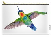 Fiery-throated Hummingbird Carry-all Pouch by Amy Kirkpatrick