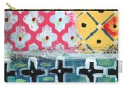 Fiesta 6- Colorful Pattern Painting Carry-all Pouch by Linda Woods