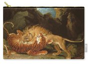 Fight Between A Lion And A Tiger, 1797 Carry-all Pouch by James Ward